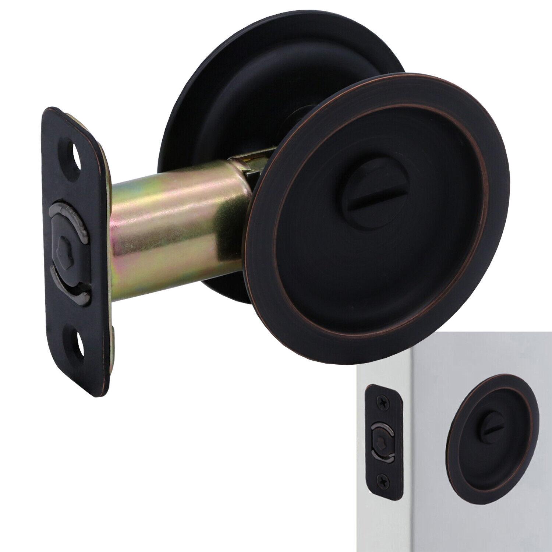 Round Sliding Pocket Door Hardware Latch Pull in Oil Rubbed Bronze Building & Hardware
