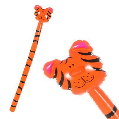 Giant Blow Up Animals (145CM GIANT INFLATABLE TIGER HEAD ON STICK ZOO ANIMAL BLOW UP - KIDS PARTY)