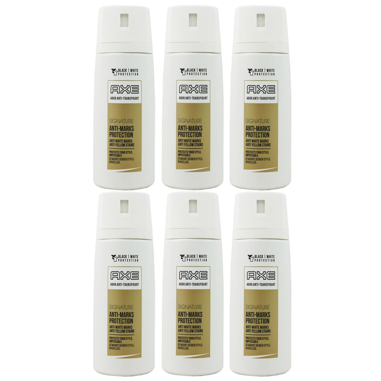 Axe Deo 6 x 150 ml diverse Sorten Deodorant Deospray - verschiedene Sorten Signature