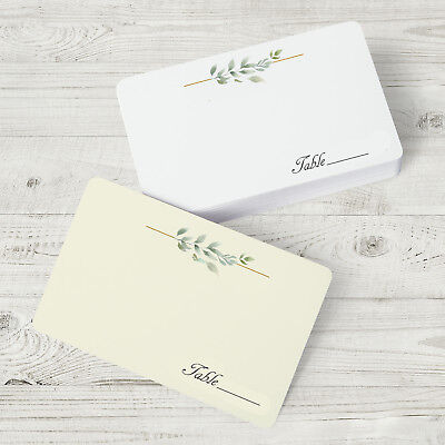 25 Flat Place Cards - Blank Seating Cards - Wedding Reception Name - Reception Place Cards