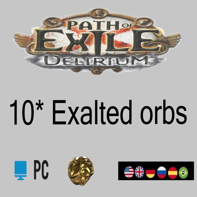 Path of Exile Delirium League SC 10*Exalted Orbs POE Currency Item EX PC NA EU