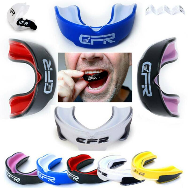 Chelston Adult//Junior Safegard Gel Mouthguard Rugby//Hockey Gum Shield Mouth Guard