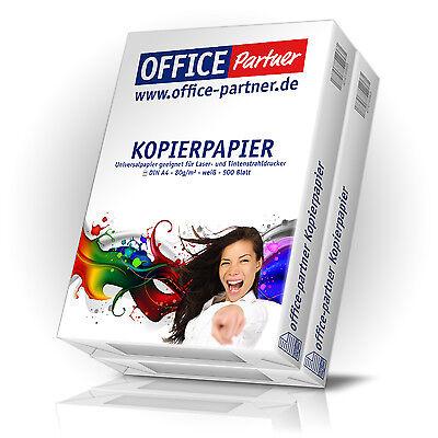 1000 Blatt OFFICE-Partner Premium Kopierpapier DIN A4 Papier 80g / m² weiß