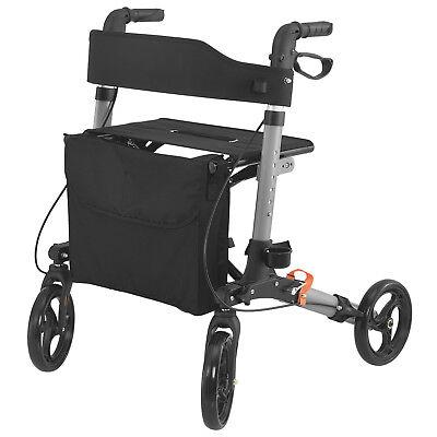 Rollator Laufhilfe Gehhilfe Gehwagen Aluminium klappbar Sitzfläche Tasche Neu