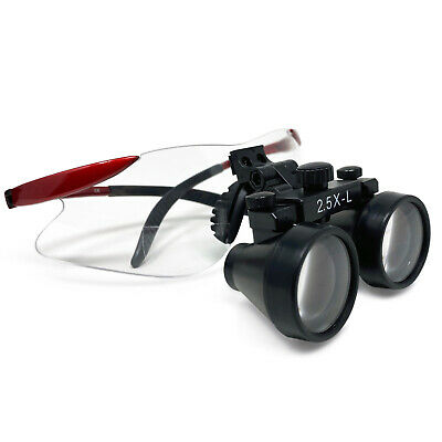 Dental Loupes 2.5x-l Surgical Glasses Binocular Optical Magnification Loupes Red