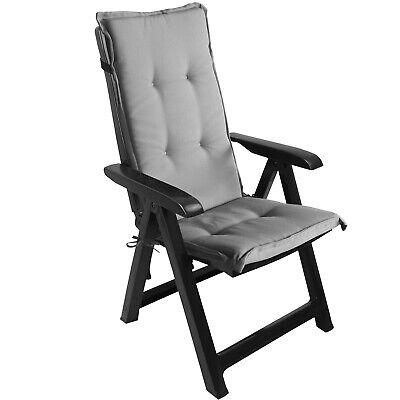 Kunststoff Grau Klappsessel (Klappsessel Positionsstuhl Hochlehner Kunststoff Anthrazit + Sitzauflage Grau)