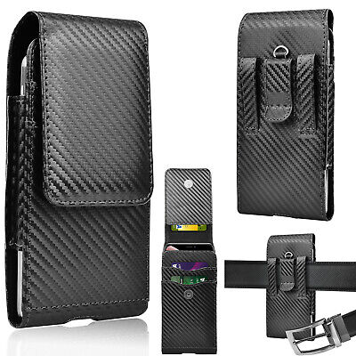 For iPhone Samsung Cell Phone Leather Belt Loop Holster Pouch Card Carrying Case Holsters Luxurious Leather Case
