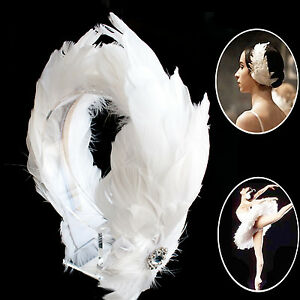 Swan Feather Headpiece Bridal Ballerina Wedding Bridesmaids Headband | eBay