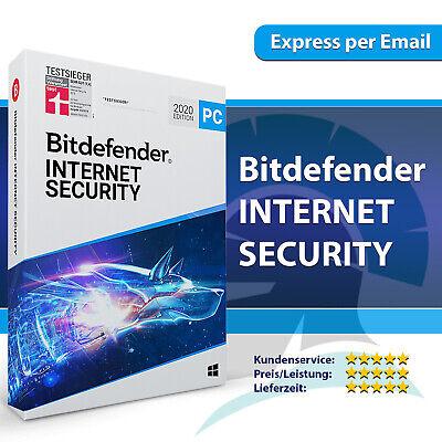 Bitdefender Internet Security 2020 2021 (1 3 5 10 PC) 1, 2, 3 Jahre