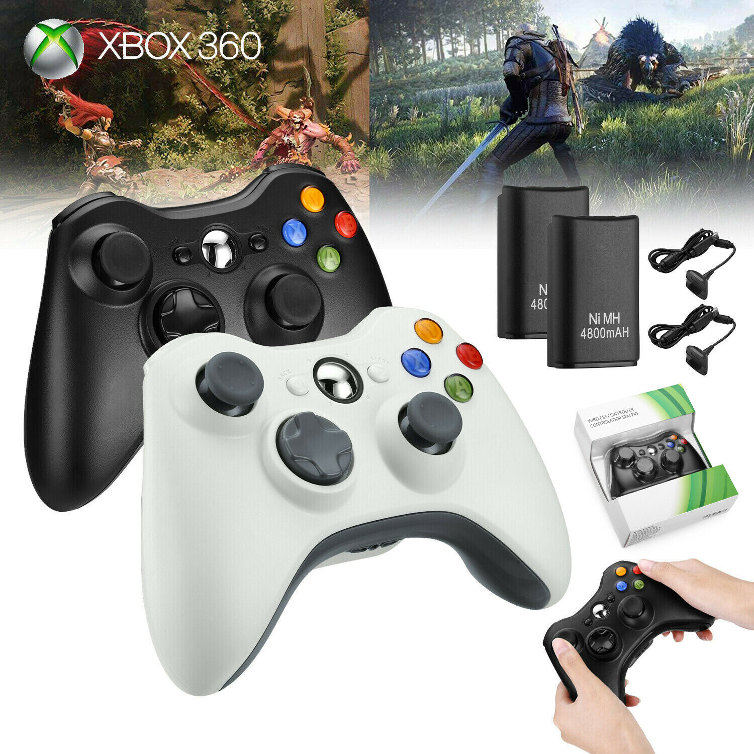 Wired / Wireless Game Controller Gamepad for Microsoft XBOX