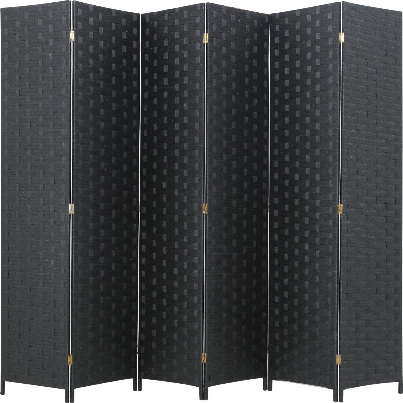 room divider wood screen 6 panel folding
