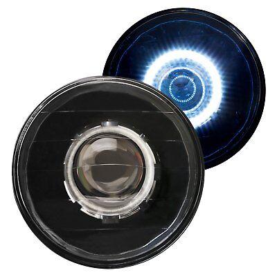 "For Ford F-150 75-79 IPCW 7"" Round Black Diamond Cut Halo Projector Headlights"