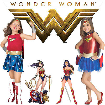 Wonder Woman Costume Cosplay Halloween Kids Blue Tutu Dress Girls Party - Wonder Woman Halloween Costume Kids