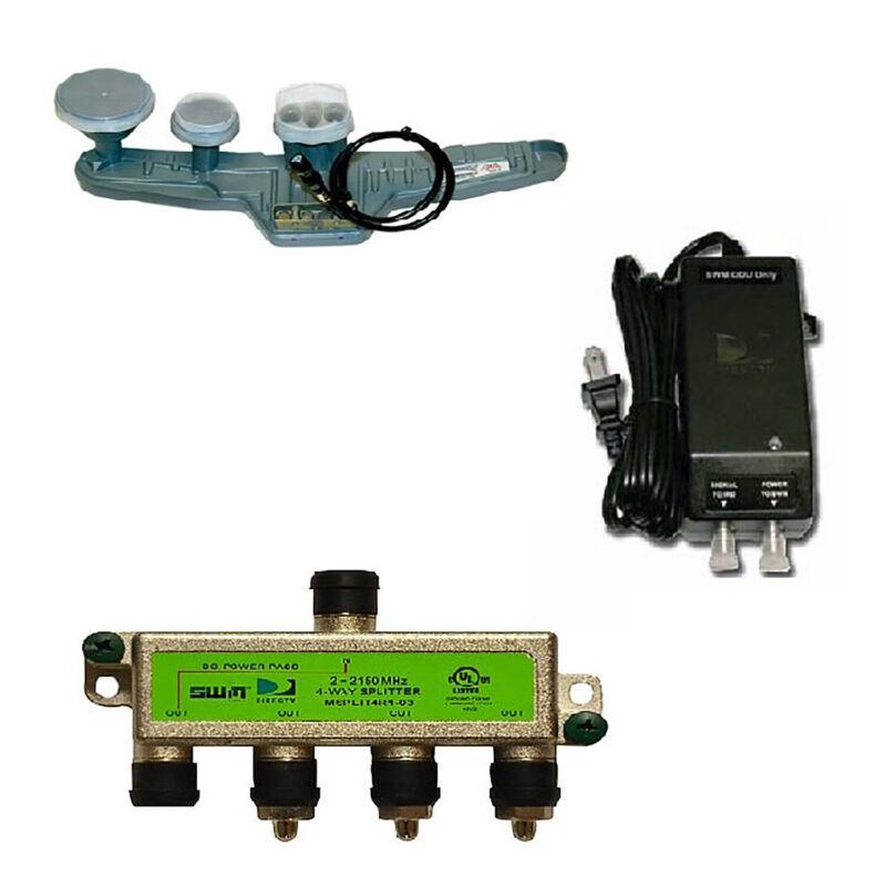 DirecTV SWM SL5S Lnb Kit with Power and Splitter