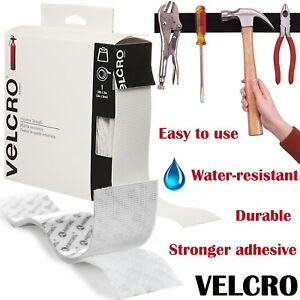 Velcro Brand Sticky Self Adhesive Tape Hook Loop White 4 FT Industrial Strength