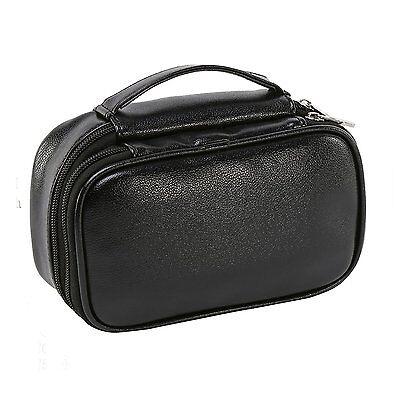 Genuine Leather Dopp Kit Shaving Accessory Toiletry Travel Bag Men Vintage Black