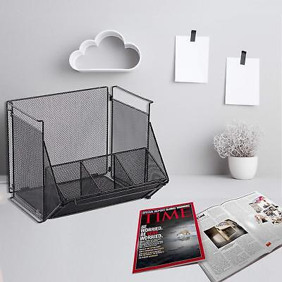 Mesh Desk Organizer Office Supply Caddy Drawer With Pen Holder Collection Black