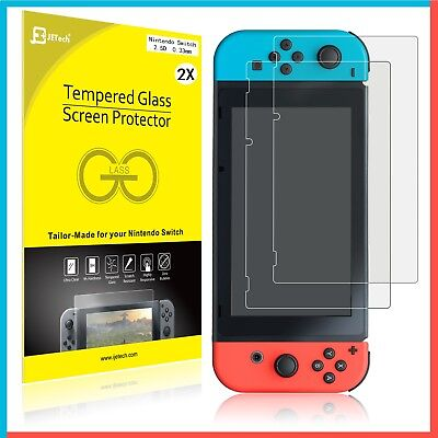 Nintendo Switch Tempered Glass Screen Protector - HD Clear (2 Pack)