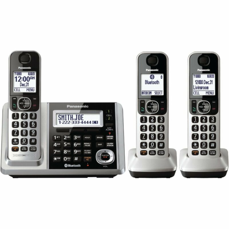 Panasonic KX-TGF373S Link2Cell Bluetooth Cordless Phone System with 3 Handsets