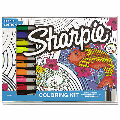 Sharpie Coloring Kit 10 Fine  10 Ultra Fine Markers Coloring Kit 20 Markers