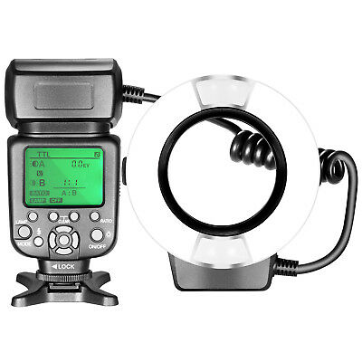 Neewer TTL Macro Ring Flash Light with Adapterfor Canon DSLR Camera