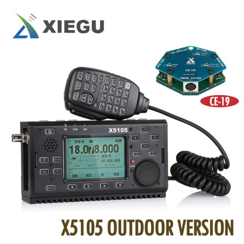 Xiegu X5105 Outdoor 0.5-30/50-5MHz Transceiver SSB CW AM FM RTTY PSK  + Speaker