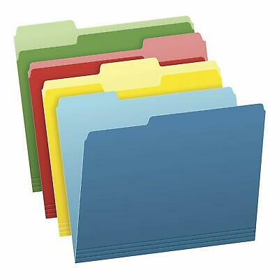 File Folders Hanging Document Holder Letter Size Assorted Color With Tabs Filing