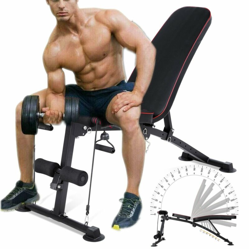 Adjustable Weight Bench Press Lifting Fold Incline Decline Press Muscle Fitness