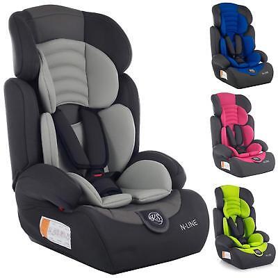 Autokindersitz Autositz Kinderautositz mit Extrapolster Kids 9-36 kg 1+2+3