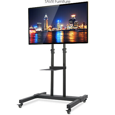 Rolling TV Stand with Mount on Wheels for 32-70 inch Flat/Curved Screen TV