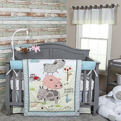 - Trend Lab Farm Stack Nursery Crib Bedding CHOOSE FROM 4 & 5 Piece Set NEW