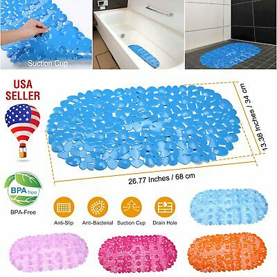 US Bath Mat Non Slip Anti Bacterial Bath Tub mats Pebbles Shower Mat 26