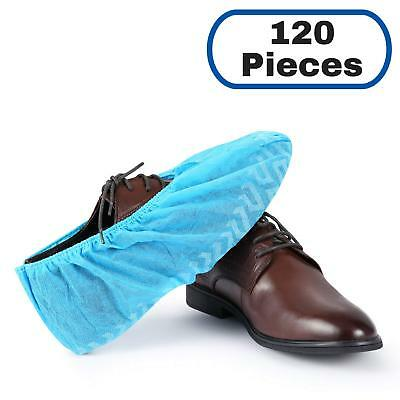 Mifflin Disposable Shoe Covers Blue 120 Pieces Non-slip Water Resistant