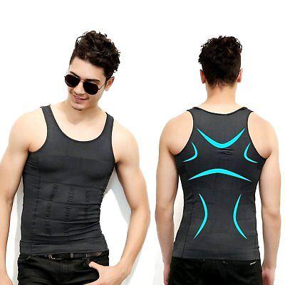 Men Waist Trainer Vest Sauna Sweat Body Shaper Slim Trimmer Lose Weight Shirts M