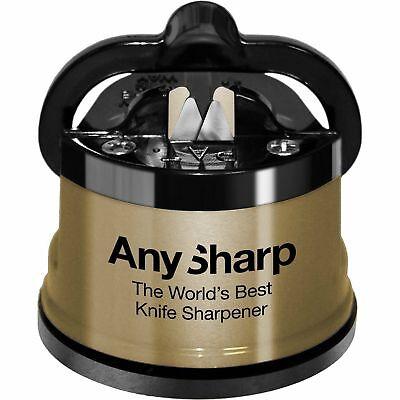 AnySharp Global GOLD World's Best Knife Sharpener Brand New Genuine UK