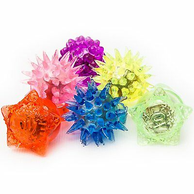 Fun Central Fun LED Flashing Jelly Rings-Assorted Styles and Colors, 24ct Light
