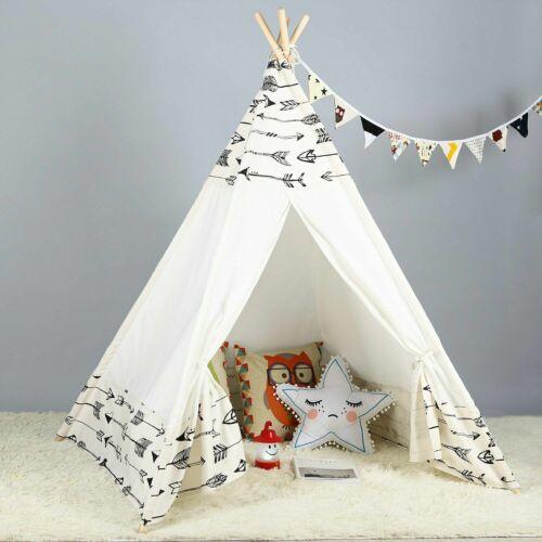 Large Indoor Outdoor Children Wigwam Playhouse Kids Teepee Cotton Canvas Tent UK