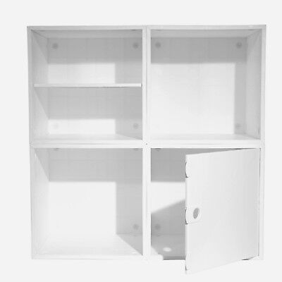 iCube Modular 4 Cube Storage Organizer System Kit Great For Dorm 2 Bonus Drawers