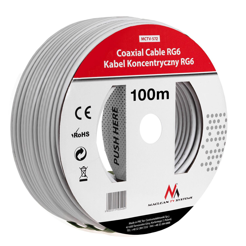 Coaxiale kabel RG6 antennesatelliet 1.0CCS Maclean MCTV 100M-572