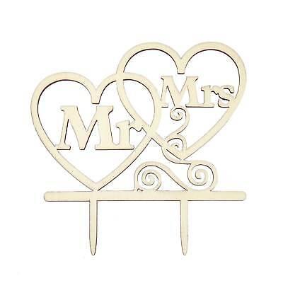 Aufsatz Mr & Mrs Herzen Holz Dekoration Hochzeit JGA Deko (Kuchen Topper Hochzeit)