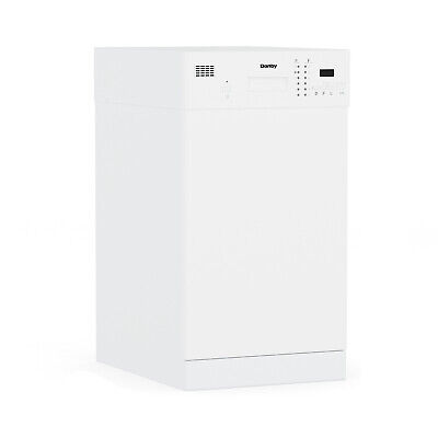 Danby DDW1804EW 18 Inch Built In Kitchen Dishwasher with 6 Wash Cycles, White