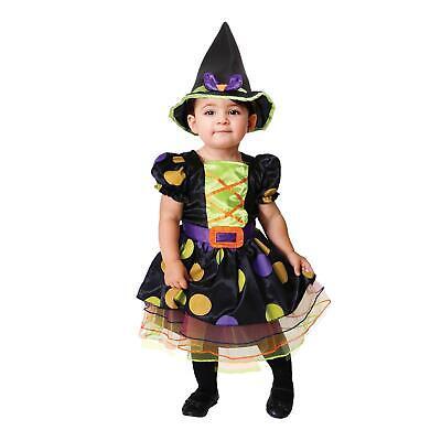 Mädchen Hexe Kostüm Gruselig Halloween Kleinkind Kinder Magische Outfit Hut ()