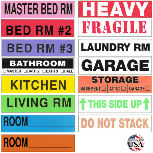 Tag-A-Room Moving Labels Color Coded 800 Pro Pack