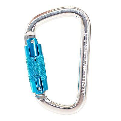 Lock Aluminum Carabiner - Spidergard Auto Twist Lock Aluminum Carabiner 25 KN- S01813-QC