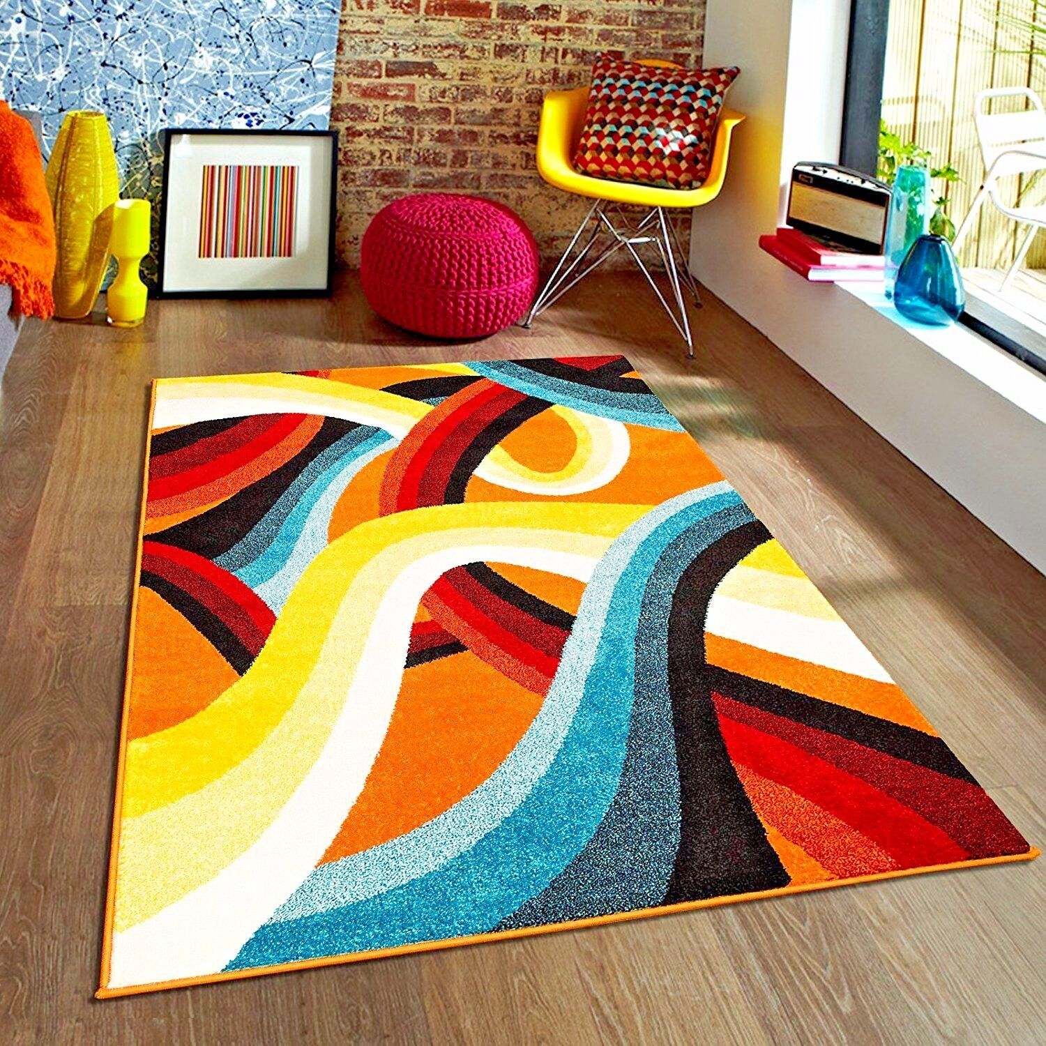 colorful rugs. RUGS AREA 8x10 RUG CARPETS QUALITY MODERN COLORFUL KIDS NEW~ Colorful Rugs