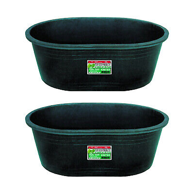 Tuff Stuff Heavy Duty 85 Gallon Water Feed Or Storage Tank Tub Green 2 Pack