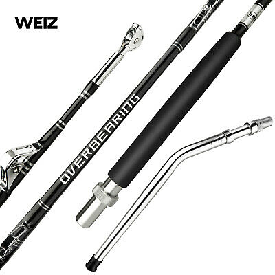 Weiz Custom Fully Rollered 5'0 80LB Overhead Big Game Trolling Boat Fishing Rod