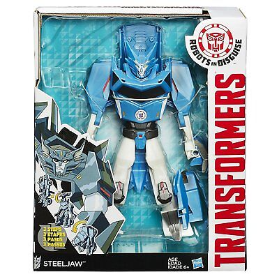 Robot TRANSFORMERS in Disguise 3-Step Changers Steeljaw Figure
