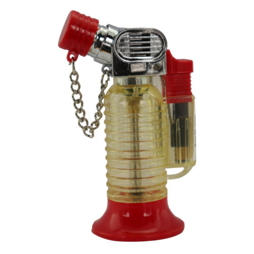 Stand Alone Single Jet Flame Butane Cigarette Cigar Torch Lighter – Red