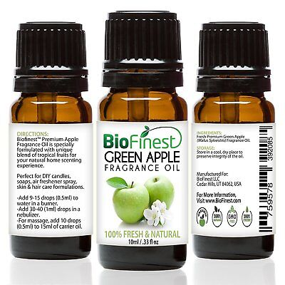 Fresh Green Apple (BioFinest Green Apple Fragrance Oil - 100% Pure & Natural - Fresh Home Scent - A )